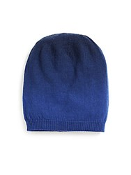 Saks Fifth Avenue Merino Wool Knit Hat Blue