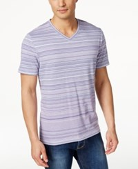 Alfani Striped V Neck T Shirt Only At Macy's Lush Lilac