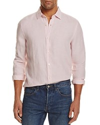 Bloomingdale's The Men's Store At Linen Regular Fit Button Down Shirt Pink