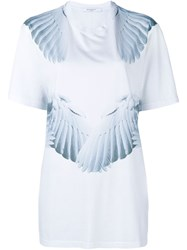 Givenchy Feather Print Short Sleeve T Shirt White