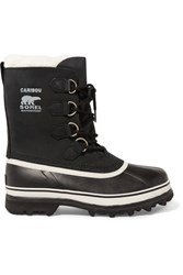 Sorel Caribou Waterproof Leather And Rubber Boots Black