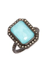 Armenta Women's Old World Midnight Turquoise And Diamond Ring