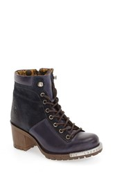 Fly London Women's 'Leal' Boot Blue Ocean Oil Suede