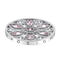 Emozioni 33Mm Flower White And Pink Coin N A N A