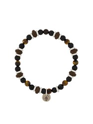 Eleventy Beaded Charm Bracelet Brown