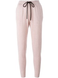 Markus Lupfer Tapered Lounge Pants Pink And Purple