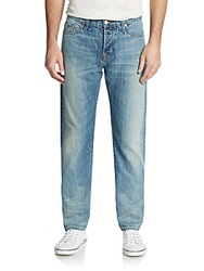Vince Slim Straight Selvage Jeans Light Rope Blue