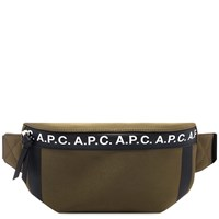 A.P.C. Taped Seam Waist Bag Green