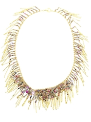 Natasha Collis 18Kt Yellow Gold Treasure Necklace Multicolour