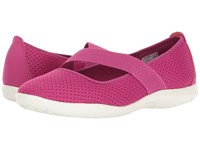 Crocs Swiftwater Flat Vibrant Violet White Women's Flat Shoes Pink
