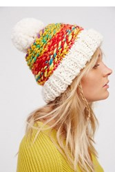 Free People Womens Candy Land Pom Beanie