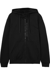 Paco Rabanne Oversized Printed Cotton Jersey Hoodie Black