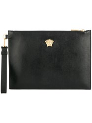 Versace Medusa Leather Pouch Black