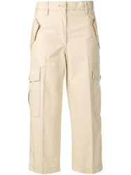 Marc Jacobs Cropped Army Trousers Neutrals