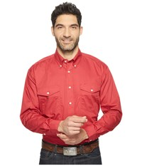 Roper 0856 Solid Poplin Red Red Men's Clothing
