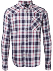 Factotum Snap Button Check Shirt Men Cotton 44 Grey