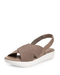 Trek Crisscross Wedge Sandal Quartz Eileen Fisher