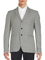 John Varvatos Austin Wool And Mohair Sportcoat Black White