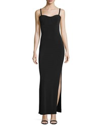 Haute Hippie The Outlaw Stretch Gown Black
