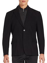 Tommy Hilfiger Quilted Inlay Cotton Jacket Black