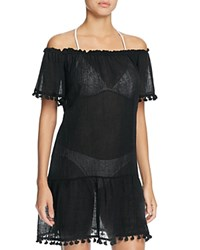 Eberjey Sol Devon Off The Shoulder Dress Swim Cover Up Black