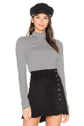Obey Alexa Long Sleeve Mock Neck Black And White