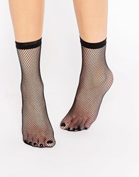 Pretty Polly Fishnet Sock Black