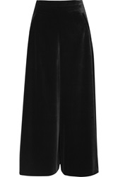 Temperley London Tuva Stretch Velvet Wide Leg Pants