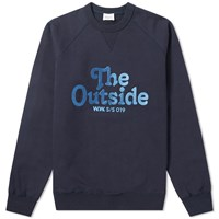 Wood Wood Hester The Outside Sweat Blue