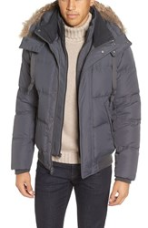 Marc New York Men's By Andrew Rockport Quilted Down And Feather Bomber Jacket Fog