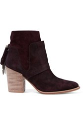 Sigerson Morrison Gianna Suede Ankle Boots Grape