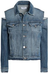 Frame Cutout Denim Jacket Light Denim