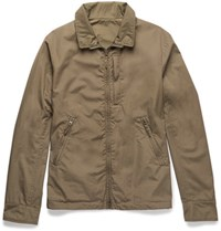 Aspesi Reversible Cotton And Shell Jacket Green