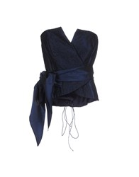Cailan'd Topwear Tube Tops Women Dark Blue