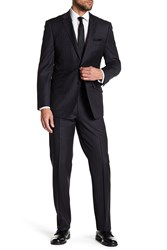 English Laundry Charcoal Pinstripe Two Button Notch Lapel Wool Suit Char Prp