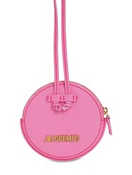 Jacquemus Le Pitchou Leather Coin Holder Necklace Pink