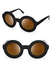 Wildfox Couture Wildfox Twiggy Deluxe Mirror Sunglasses Black Gold Mirror