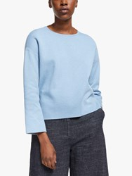 Eileen Fisher Reversible Organic Cotton Silk Jumper Haze Rain