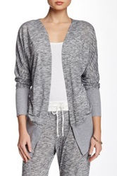 Central Park West Spacedye Cardigan Gray