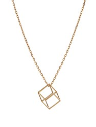 Noor Fares Cube Yellow Gold Necklace
