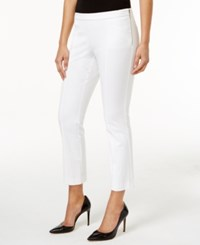 Alfani Cropped Side Zip Pants Only At Macy's Bright White