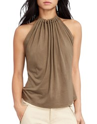 Lauren Ralph Lauren Beaded Halter Top Cobra