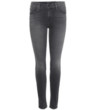 Mother The Looker Skinny Jeans Grey