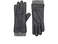 Barneys New York Women's Leather And Cashmere Gloves Grey