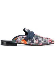 Isabel Marant Finza Printed Mules Blue