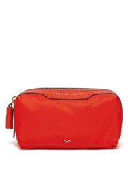 Anya Hindmarch Girlie Stuff Zip Top Wash Bag Red