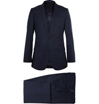 Thom Sweeney Navy Weighouse Wool Suit Blue