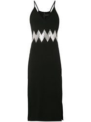 David Koma Zig Zag Dress Black