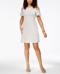 Styleandco. Style Co Embroidered Cold Shoulder Dress Created For Macy's