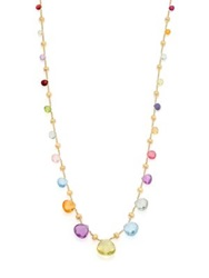 Marco Bicego Paradise Semi Precious Multi Stone And 18K Yellow Gold Long Necklace Gold Multi